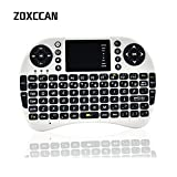 ZOXCCAN Mini 2.4GHz Wireless 3 in 1 Rechargeable Keyboard with Mouse Touchpad...