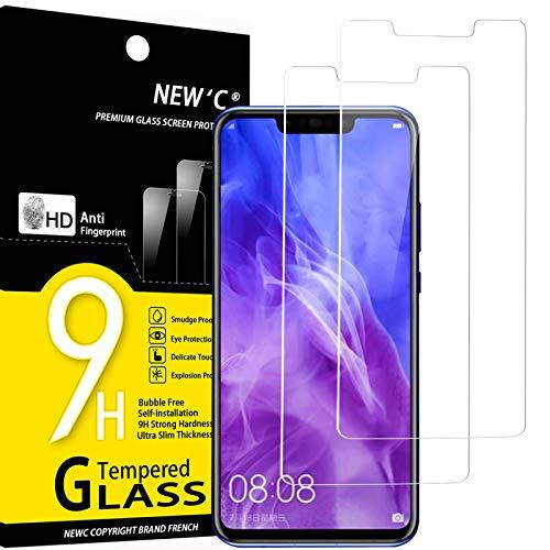 NEW'C 2 Stück, Schutzfolie Panzerglas für Huawei Nova 3, Nova 3i, Frei von Kratzern, 9H Härte, HD Displayschutzfolie, 0.33mm Ultra-klar, Ultrabeständig