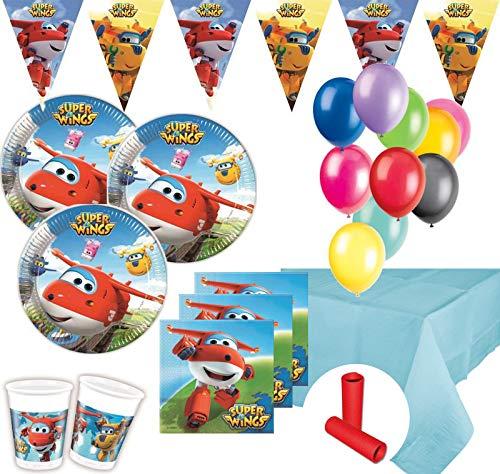 XL 49 Teile Super Wings Party Deko Set 8 Kinder