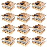 iGlow 12 Pack Copper Outdoor Garden 6 x 6...