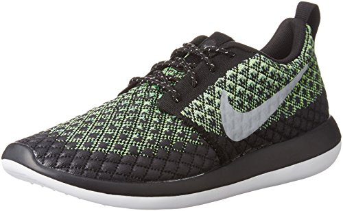 Nike Men's Roshe Two Flyknit 365 Volt/Wolf Grey - Green Glow Ankle-High Fabric Running Shoe 10.5M