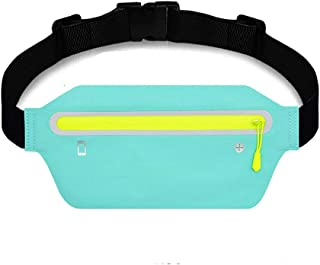 ULTRA THIN Running Belt Waist Pack, Sports Runner Bag Pouch Adjustable Fanny Pack for iPhone and Other Smartphones, Sweatp...