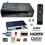 DECODER RICEVITORE DIGITALE TERRESTRE HD-999 DVB-T2 TV SCART HDMI 1080P REG PVR...