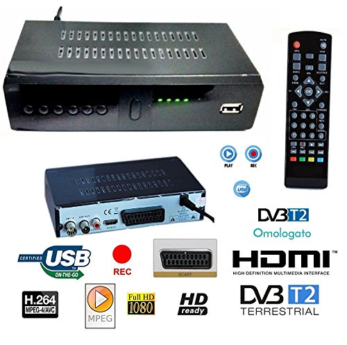 Decodificador receptor digital terrestre hd-999 DVB-T2 TV SCART HDMI 1080P Reg...