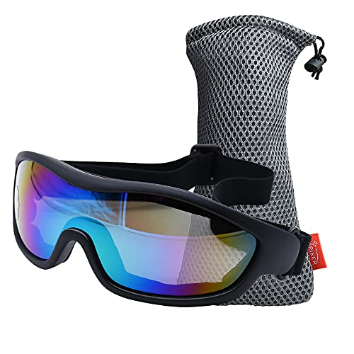 Viriber Motorcycle Goggles Bike Goggles UV Protective Outdoor Glasses Dust-proof Protective Combat Goggles Military Sunglasses Outdoor Tactical Goggles (colorful)
