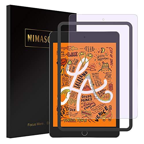 (ブルーライトカット)Nimaso iPad mini (2019)/ iPad mini5 / iPad mini4 用 フィルム 強化ガラス 液晶保護フィルム 高透過率/眼精疲労軽減 【1月4日からガイド枠付き】