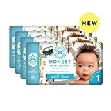 The Honest Company Baby Diapers with TrueAbsorb Technology, Winding Roads, Size 1, 140 Count