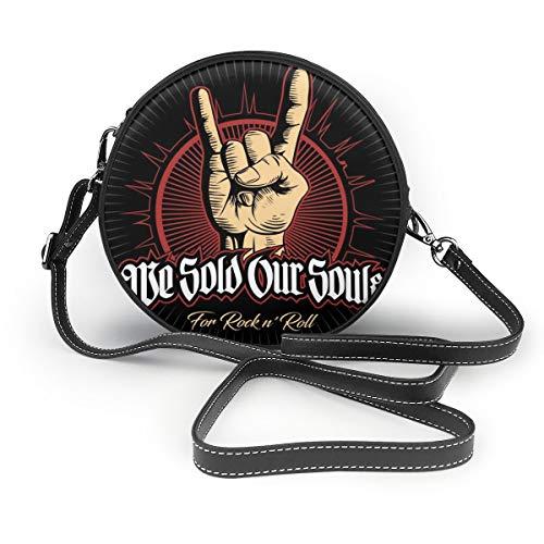 Bolsos de hombro Bolsos redondos para mujer Hard Rock, Heavy Metal, Si