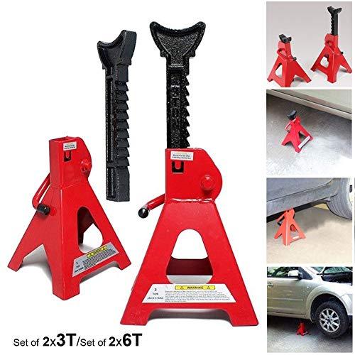 Durable tool - Gato de elevación para Caravana (Capacidad de 3 a 6 toneladas), 2 X 3 Ton Jack Stands