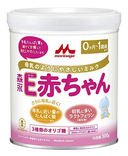 森永乳業 E赤ちゃん 小缶 300g [0ヶ月~1歳 新生児 粉ミルク] ラクトフェリン 3種類のオリゴ糖