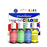 Chefmaster Food Coloring Liqua Gel Set (4-Pack), Vegan-Friendly Gluten-Free Food Dye for Easter Cake...