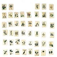 Onior プレミアム品質植物スタンプ紙ステッカーdiy日記デコレーションアルバムスクラップブッキング