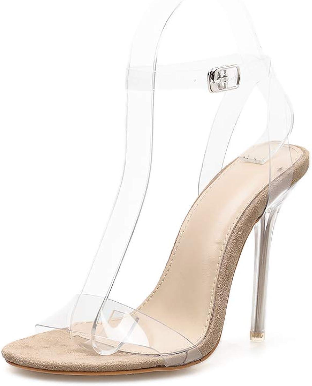 FengJingYuan Frauen Sandalen - Sexy Transparente High Heel Open Toe Toe Toe Stiletto Damenschuhe  741d48