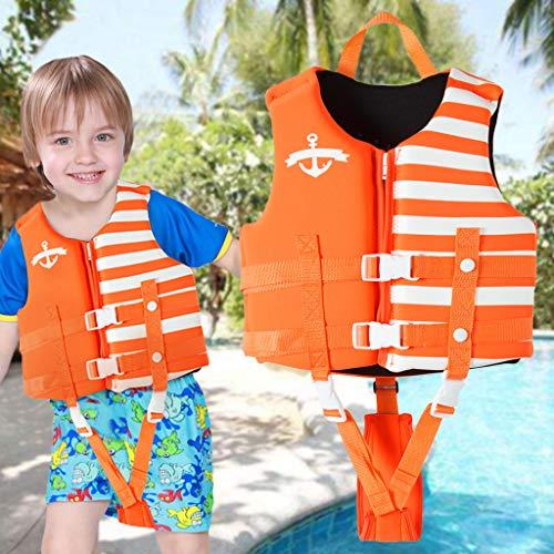 OldPAPA Kids Swim Vest, Children Swimming Jacket Float Swimsuit Buoyancy Vest Training Swim Jacket with 3 Safety Buckle