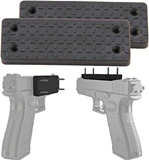 Hydraker 2 Pack Gun Magnet with Adhesive Rubber Coated Fit for Firearms, On Vehicle, Wall, Desk, Bedside