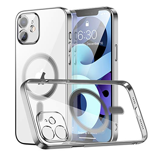 AMZLIFE Transparent Magnetische Hülle Kompatibel mit iPhone 12 Mini (5.4
