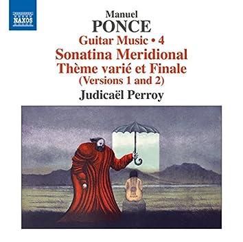 Ponce: Guitar Music, Vol. 4