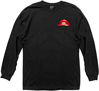 Ripple Junction The Rocky Horror Picture Show Adult Unisex Illustrated Lips Light Weight 100% Cotton Long Sleeve Crew T-Shirt