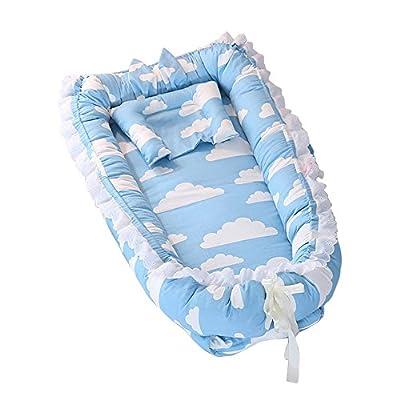 Nido de Bebé, T-MIX Cuna de Bebé Newborn 0-24 Months Cribs Regalo Bienvenida - High Elasticity Pearl Cotton / Super Soft / Breathable / Portable / Removable