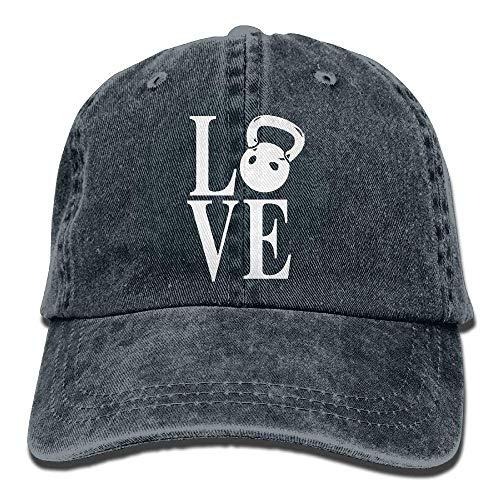 Gorra de béisbol Unisex Algodón Denim Sombrero Amor Kettlebell Ajustable Snapback Sombrero...