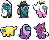 MMYY Among Us, Crocs Charms Crewmates Button Charms per scarpe alla moda gioco scarpe charms carino pin per coccodrilli per bambini Trendy Charms per Crocs Decoration (6pcs)