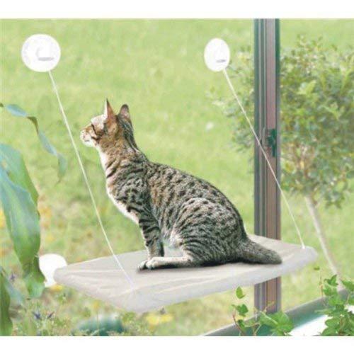 J.AKSO - Cama para gato, ventana para gato, percha, asiento de ventana, ventosas, espacio para gatos, hamaca para gatos, asiento de descanso para mascotas de compañía