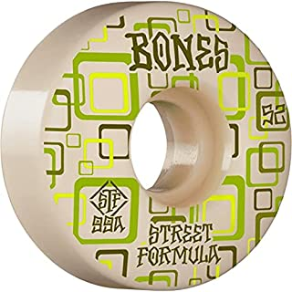 Bones Skateboard Wheels 52mm Retros V3 Slims STF 99A White