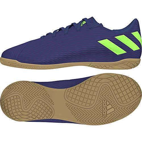 adidas Unisex Baby Nemeziz Messi 19.4 In J Kinder Fußballschuhe, Lila Tech Indigo Signal Green Glory Purple, 36 EU