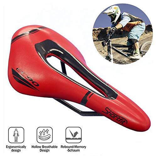YCKZZR fietszadel, professioneel mountainbikegel zadel, ademend MTB-fietskussen met centrale reliëfzone en ergonomisch ontwerp, geschikt voor racefiets en mountainbike, kinderfiets