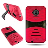 Moto E 2nd Gen Case, CoverON [Titan Armor Series] Protective Shockproof Phone Cover Case for Motorola Moto E 2nd Gen - Red & Black