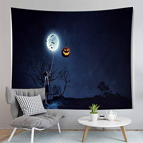 PPOU Alfombra de Calabaza de Halloween 3D Manta Tapiz montado en la Pared Estera de Yoga Bohemia Decoración de la Pared del hogar Tapiz de Tela de Fondo A10 130x150cm