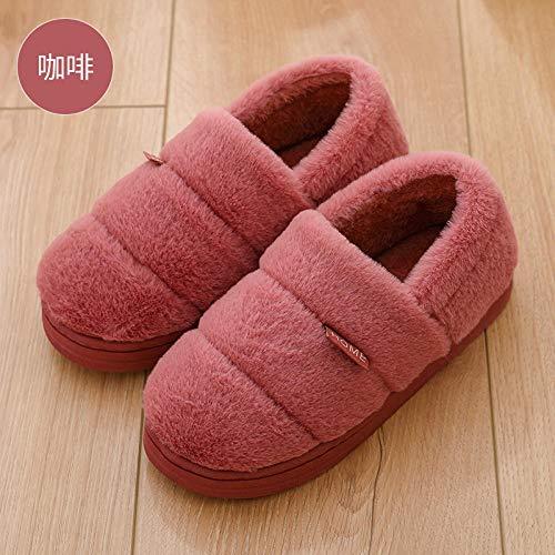Nikai slippers vrouwen, Vrouwelijke winter thuis binnen pluche huis paar katoenen schoenen platform