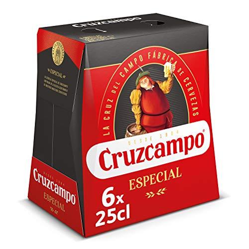 Cruzcampo Especial Cerveza - Pack de 6 Botellas x 250 ml (Total: 1.5 L)