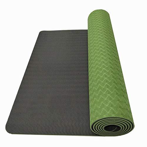 GXII Milieubescherming TPE yogamat antislip slijtvaste vochtbestendige multifunctionele oefenmat voor Pilates gymnastiek platte ondersteuning sit-ups 6mm