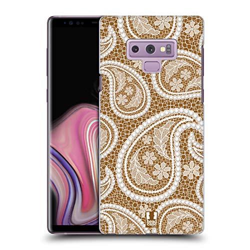 Head Hülle Designs Paisley Band Und Perlen 2 Harte Rueckseiten Huelle kompatibel mit Samsung Galaxy Note9 / Note 9