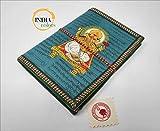 India Colors Regalo Agenda Album Fotos Diario Bloc Cuaderno Viajes Libro visitas. Modelo Mediano. Hecho a Mano en India. Papel Artesanal algodón (Verde)