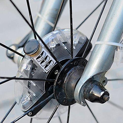 Elikliv Bicicleta de Moda Bicicleta Ciclismo Hub Luz de Advertencia Rueda Impermeable Ip55 Luz Led Decorativa 3 Modo Intermitente Accesorio