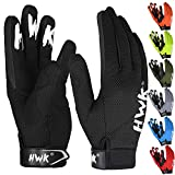 HWK Motorcycle Gloves for Men & Women Motocross Riding Driving Tactical Cycling Biker Moto Racing All-Purpose Gloves (Black, 2XL)