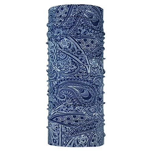 P.A.C. Original Arwana Dark Blue Multifunktionstuch - nahtloses Mikrofaser Schlauchtuch, Halstuch, Schal, Kopftuch, Unisex, 10 Anwendungsmöglichkeiten