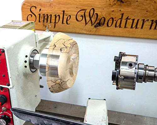 """Simple Woodturning Tools 1"""" x 8 TPI Threads Vacuum Chuck for Wood Turning Lathe, Made in USA"""