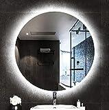 Bathroom mirror Miroir, Miroirs de Salle de Bains à LED, Grand Miroir Mural Rond Rétro-éclairé Imperméable et Antidéflagrant