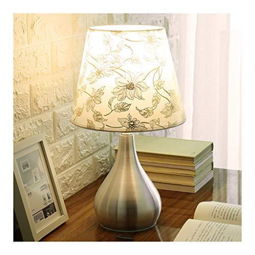 WYZ. Tafellamp, moderne dimming afstandsbediening, met aluminium bedrukte stof lampenkap E27 * 1 woonkamer decoratie sofa slaapkamer nachtkastje