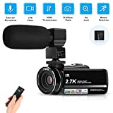 """Video Camera Camcorder 2.7K HD Vlogging Camera for YouTube WiFi 3.0"""" IPS Touch"""