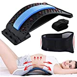3-in-1 Back Stretcher for Pain Relief, Unisex Spine Deck Back Stretcher - Lumbar Back Arch Stretcher for Posture, Lower and Upper Back Massager for Bed & Chair & Car etc. (Blue)