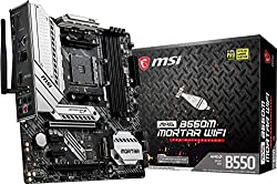 commercial MSI MAG B550M Mortar WiFi Gaming Motherboard (AMD AM4, DDR4, PCIe 4.0, SATA 6 Gbit / s, M.2, USB 3.2… laptop gaming motherboard