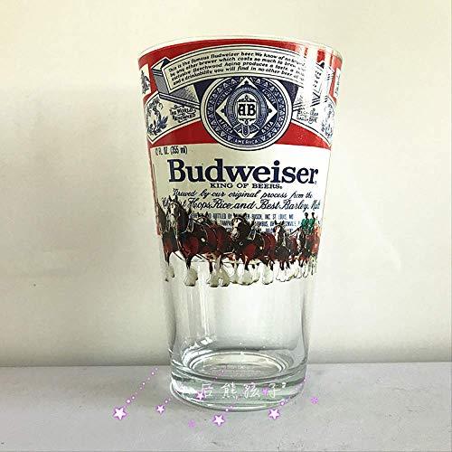 Bud licht Budweiser bier rond de beroemde bier koning staal glas