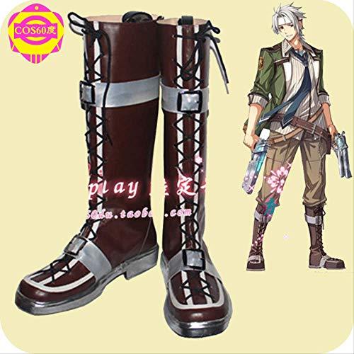 MSSJ Cosplay Schuhe für Anime Legend of Heroes: Tracks of Flash Crow Armbrust Cos Schuhe Handgefertigte Schuhe auf Bestellung 43