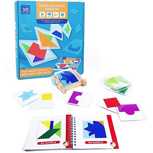 Giochi di Societa per Bambini Giochi Montessori Puzzle Tavolo di Colore e Forma Giocattoli Logici Intellettuali Giocattolo Creativi Giochi Giochi Educativi per Bambina Bambino 3 4 5 6 Anni