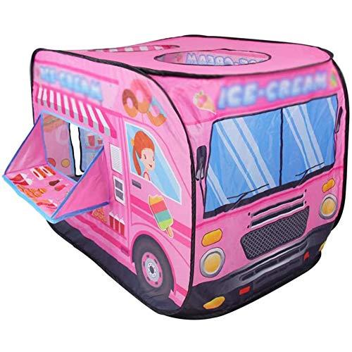 Hengqiyuan Carpa Plegable Juego Las Tiendas Pop-Up De Los Niños con Automotive, Cubierta Al Aire Libre Portátil De Juegos para Niños Casa, para La Sala Infantil, Sala De Niñas,Rosado