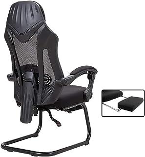 Krzesło biurowe Krzesło do gier Krzesła biurowe do domu, Ergonomiczne krzesło biurowe z podnóżkiem, krzesło biurko z obsłu...